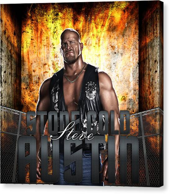 Steve Austin Canvas Print - Stone Cold By Gbs by Anibal Diaz