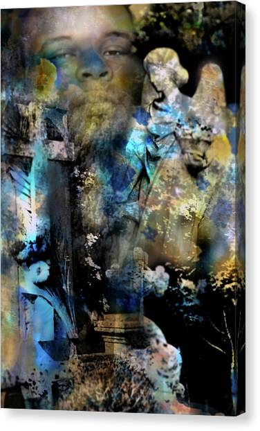 Stone Crosses And Death Angels - Michael Brown Canvas Print
