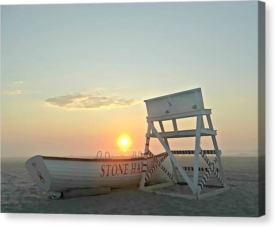 Stone Harbor Sunrise Canvas Print