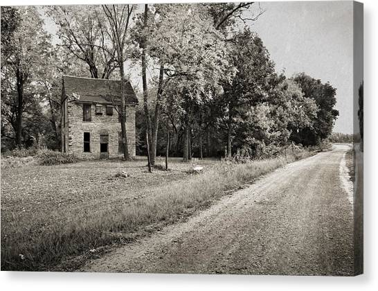 Stone House Road Canvas Print