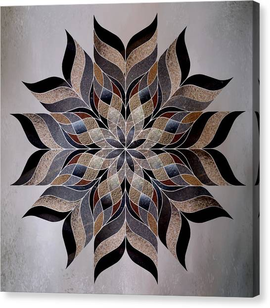 Repeat Canvas Print - Stone Mandala by Terry Davis