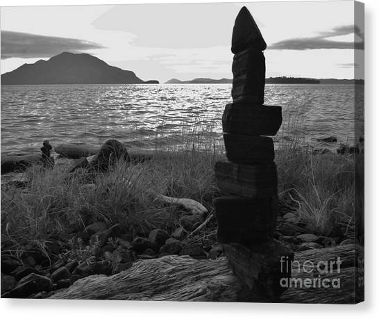Stone Pile Canvas Print by Laura  Wong-Rose