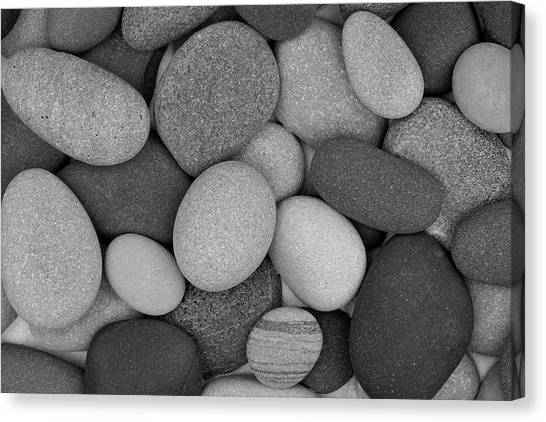 Stone Soup Black And White Canvas Print