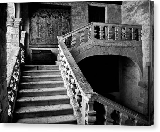 Canvas Print featuring the photograph Stone Stairs by Adrian Pym