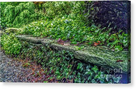 Stone Wall At Laurelwood Canvas Print