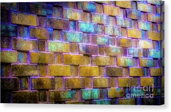 Brick Wall In Abstract 499 Canvas Print