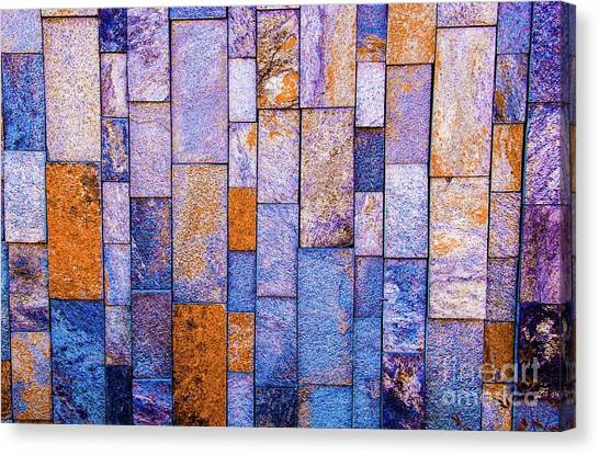 Stone Wall In Abstract 543 Canvas Print