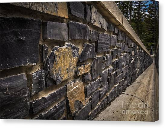 Stone Wall With Perspective Canvas Print