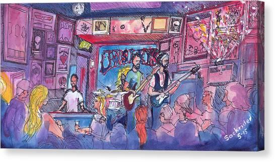 Stonebraker At Quixotes True Blue Canvas Print