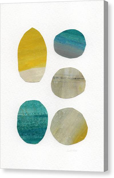 Watercolor Canvas Print - Stones- Abstract Art by Linda Woods