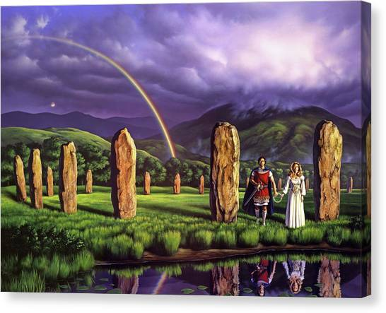 England Canvas Print - Stones Of Years by Jerry LoFaro