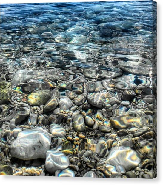 Submarine Canvas Print - #stones #underwater #sea #seascape by Michele Stuppiello