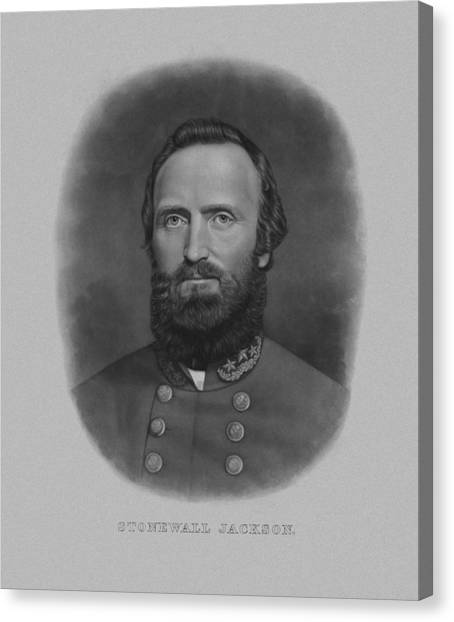 Stonewall Canvas Print - Stonewall Jackson by War Is Hell Store
