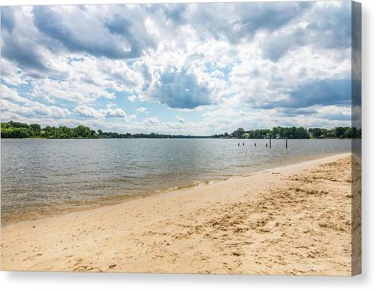 Canvas Print - Sand, Sky And Water by Charles Kraus