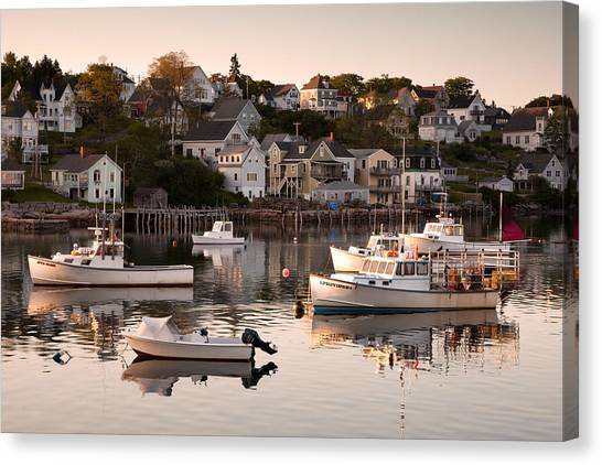 Stonington Harbor Canvas Print