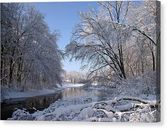 Stony Brook Late Winter Canvas Print