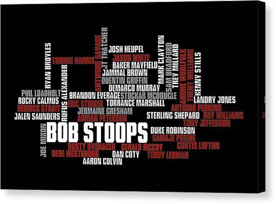 Ok Canvas Print - Stoops Greatest Sooners by Ricky Barnard
