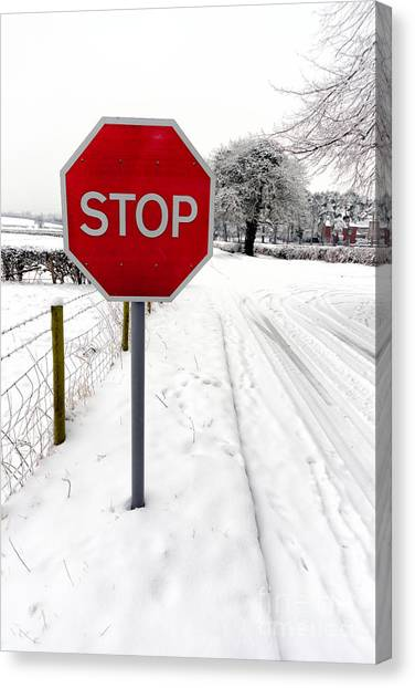 Stop Sign Canvas Print - Stop by Adrian Evans