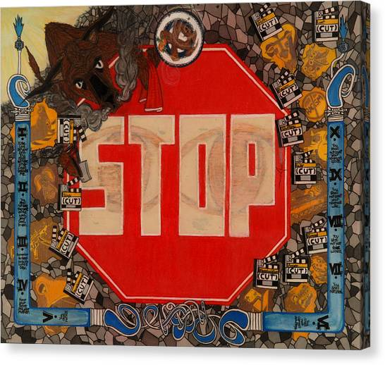 Stop C.t.b.s Canvas Print by Angelo Sena