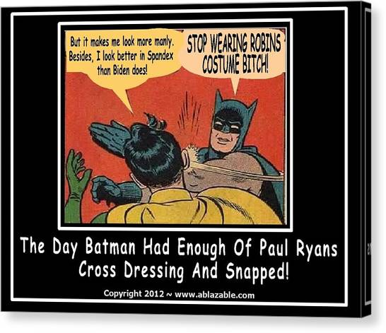 Paul Ryan Canvas Print - Stop Wearing Robin's Costume by The GYPSY
