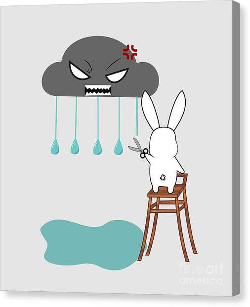 Rain Canvas Print - Stopping The Rain by Kourai