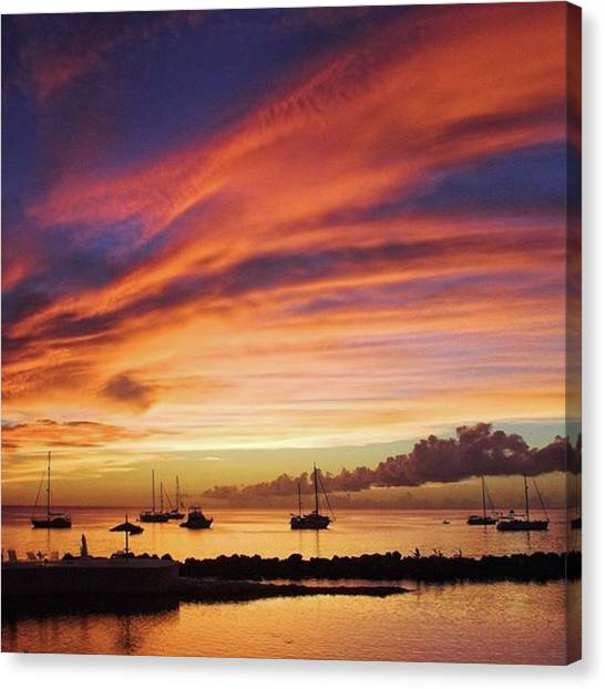 Landscapes Canvas Print - Store Bay, Tobago At Sunset #view by John Edwards
