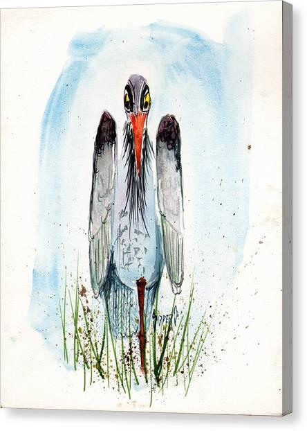 Storks Canvas Print - Jenifer's Friend - George #2 by Sam Sidders