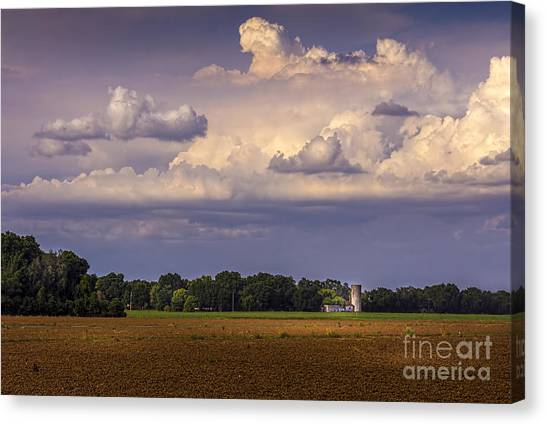 Horse Farms Canvas Print - Storm A Coming by Marvin Spates