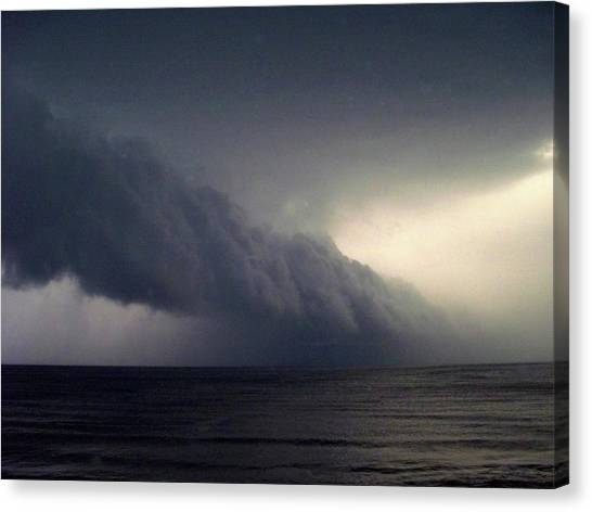 Hailstorms Canvas Print - Storm A Coming by Tom Kilbane