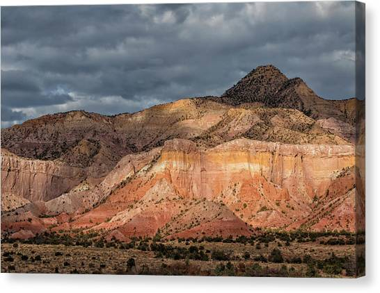Storm Above Ghost Ranch Mountains Canvas Print