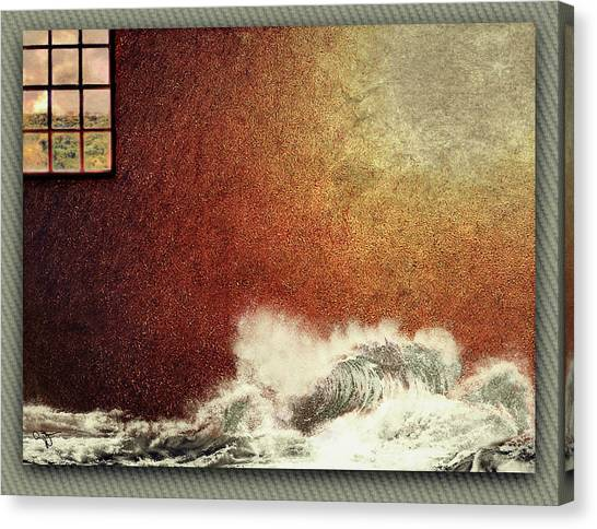 Storm Against The Walls Canvas Print