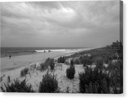 New jersey shore canvas print storm approaching jersey shore by angie tirado