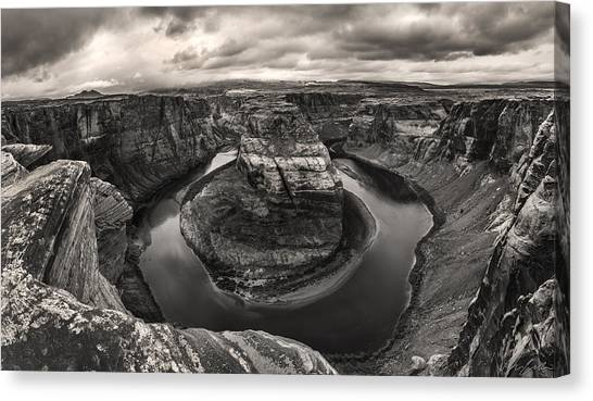 Storm At Horseshoe Bend Canvas Print