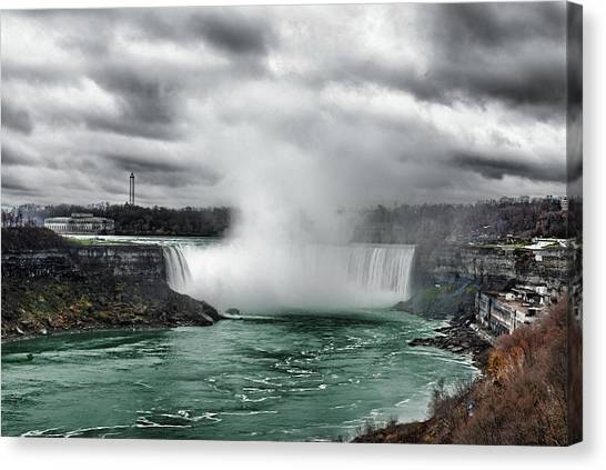 Storm At Niagara Canvas Print