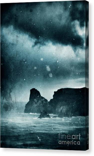 Storm At Sea In Cornwall, England Canvas Print by A Cappellari
