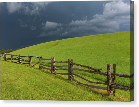 Storm At The Lump Canvas Print by Jim Neal