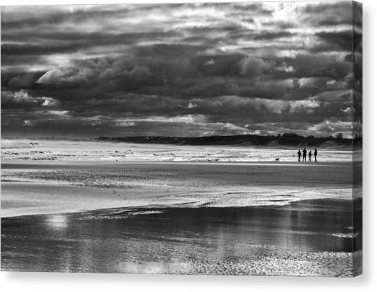 Canvas Print featuring the photograph Storm Beach by Adrian Pym