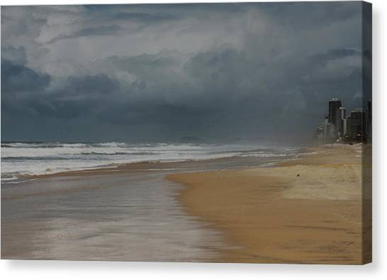 Storm Brewing On The Gold Coast Canvas Print
