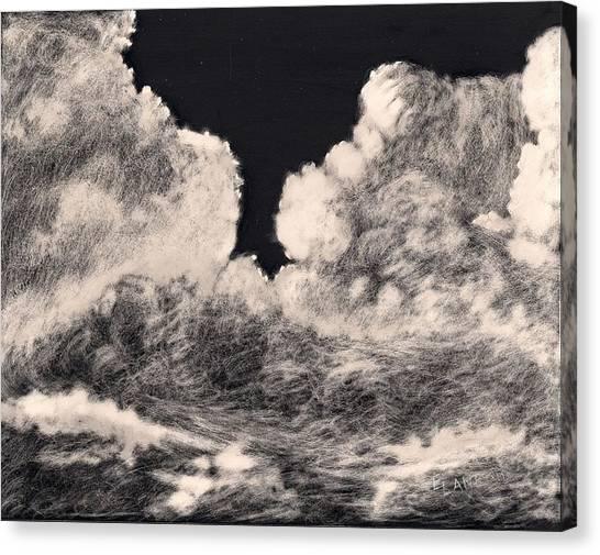 Storm Clouds 1 Canvas Print by Elizabeth Lane