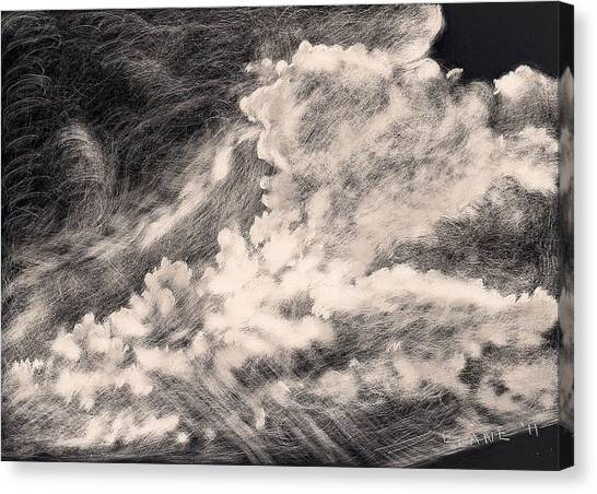 Storm Clouds 2 Canvas Print by Elizabeth Lane