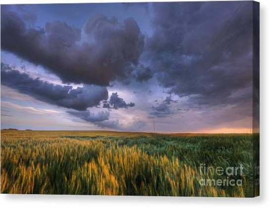 Storm Clouds Over Barley Canvas Print