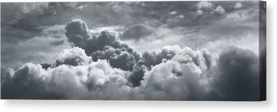 Storms Canvas Print - Storm Clouds Over Sheboygan by Scott Norris