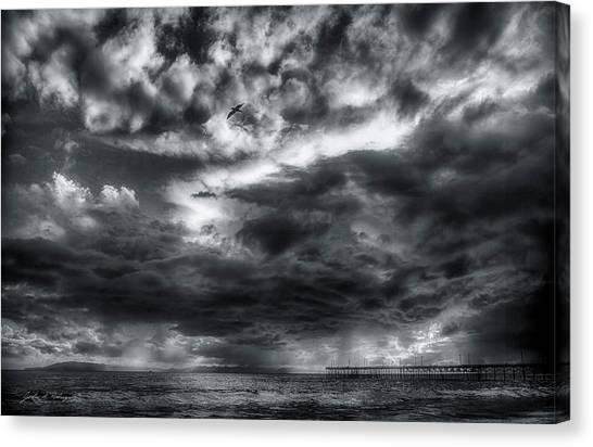 Storm Clouds Ventura Ca Pier Canvas Print