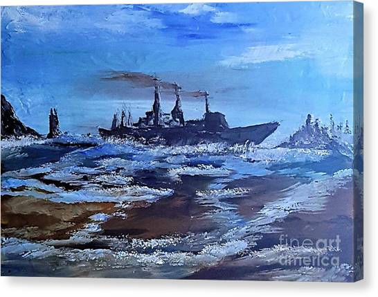 Storm Freighter Canvas Print