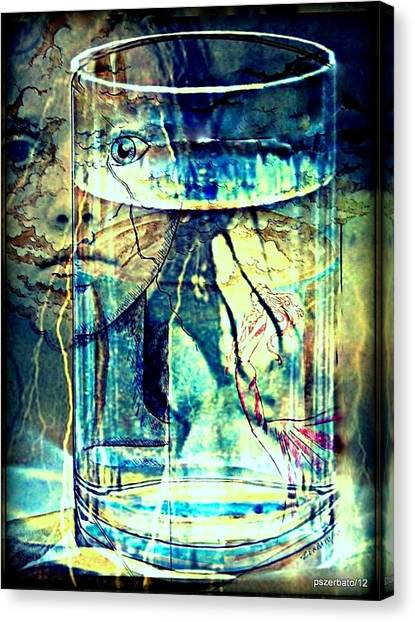 Storm In A Glass Of Water Canvas Print