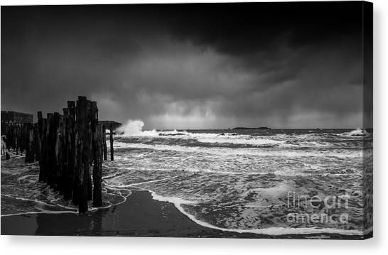 Storm In Saint-malo Canvas Print
