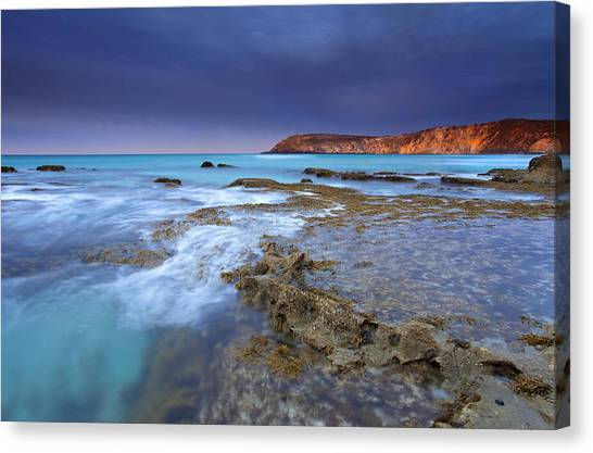 Pennington Bay Canvas Print - Storm Light by Mike  Dawson