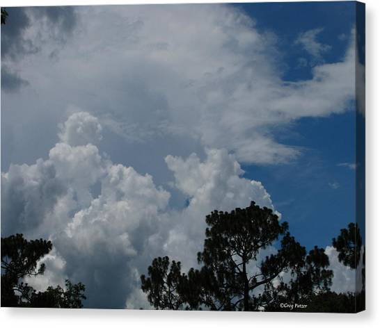 Storm Moving In Canvas Print by Greg Patzer
