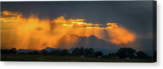 Storm Of Gold Canvas Print
