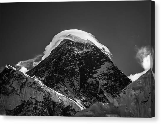 Canvas Print featuring the photograph Storm On Everest by Owen Weber